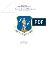 Chronology Of the Air National Guard In 2005 Hurricane Rescue and Relief Operations