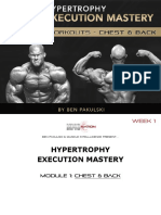 387519922 Hypertrophy Execution Mastery Module 1 Workouts Chest Back Week 1
