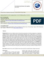 Analysis of human information processing in performance and cognition