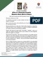 Mensaje de Las Hermanas Concepcionistas-26!03!2020