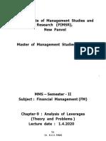 (9) FM - Analysis of Leverages (cir. 26.3.2020).pptx