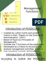 Management Process - POSDCORB