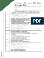 An Inspector Calls Mini Exam Pack Mark Scheme Worksheet