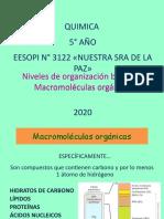 Niveles de organización biológica. Macromoléculas La Paz
