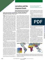 Biodiversity Conservation and the Milennium Developement Goals