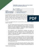 RECURSOS CONTRA DECRETO DE PRUEBAS