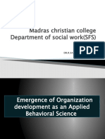 Emergence of OD as an applied Behavioral Science