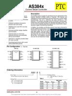 AS3843 control de fuente de alimentacion cinmutada