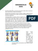 CHARLA HERRAMIENTAS DE MANO