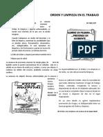 CHARLA DE ORDEN Y LIMPIEZA EN EL TRABAJO