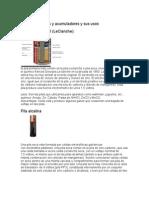 Tipos de baterías y acumuladores y sus usos