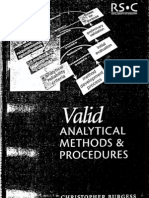 Valid Analytical Methods and Procedures - Christopher Burgess