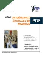 YG-04-12 INSA-Spectrométrie, chromato graphie, écotoxicologie au service des écot echnologies