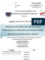 Corporate Governance and Financial Performance in