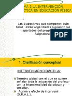 LA INTERVENCIÓN DIDACTIVA EN LA EDUCACION FISICA.ppt