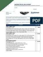 Cotizacion 00012020 Vollrath