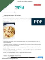 Pasta Carbonara {EASY & Indulgent!} _ SimplyRecipes.com