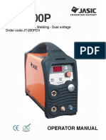DC Pulse TIG / MMA Welding - Dual voltage Order code JT-200PDV