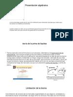 Presentación algebraica