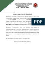 CARTA AVAL USO DE VEHICULO gaspar