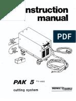 manual de instrucciones PAK 5