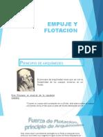 EMPUJE Y FLOTACIÓN