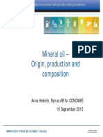 Mineral oil - Origin, production and composition