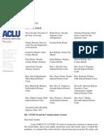 ACLU Criminal Justice Requests - COVID-19