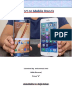 Report on Cellphone Brands