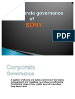 Sony Corporate Governance
