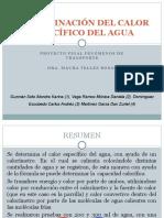 DETERMINACIÓN DEL CALOR ESPECÍFICO DEL AGUA