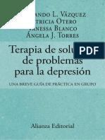 Terapia de solución de problemas para la depresión - Fernando L. Vázquez