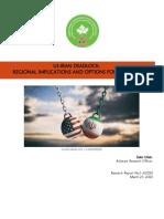 US-IRAN DEADLOCK; REGIONAL IMPLICATIONS AND OPTIONS FOR PAKISTAN