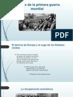Efectos de la primera guerra mundial 2