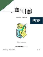 Montauriol Poésie Numéro Spécial Olivier Demazet