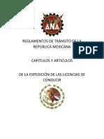REGLAMENTOS DE TRÁNSITO DE LA REPUBLICA MEXICANA