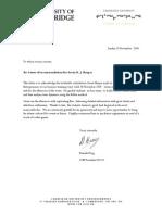 Letter of Recommendation Gavin Harper