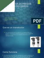 TRANSDUCTOR DE PRESION PIEZAELECTRICA Y TRANSDUCTOR DE PRESION