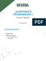 Aula 01.5 - Introdução Algoritmos