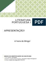 Aula 1 - Literatura Portuguesa I