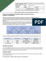 Grado 6º Guía 2 El ciclo de los materiales