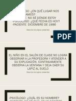SEMIOLOGÍA PSIQUIÁTRICA 1