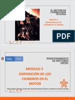 5. MOTORES DIESEL MODULO 5 DISPOSICIÓN DE LOS CILINDROS EN EL MOTOR