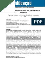 RUDÁ, C.; SILVA, G. A. Formação do psicólogo na Bahia
