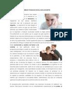CAMBIOS PSIQUICOS EN EL ADOLOSCENTE