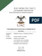 CONTAMINACIÓN ACÚSTICA EN LA CIUDAD DE CUSCO