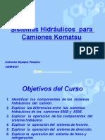 sistemas hidráulicos  Camión Komatsu