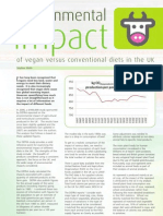 Environmental Impact of Vegans Versus Conventional Diets in the UK