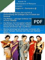 Kuliah 14 Tamadun Bumiputera Di Malaysia