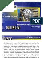 TPCS Company Overview LD Micro Conference 12.9